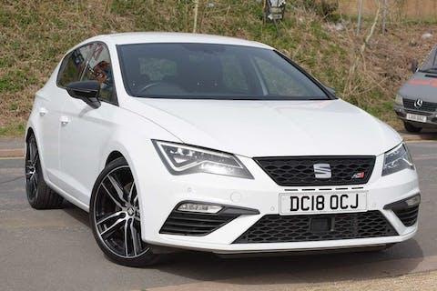 White SEAT Leon TSI Cupra 2018