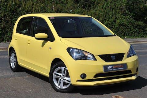 Yellow SEAT Mii SE 2012