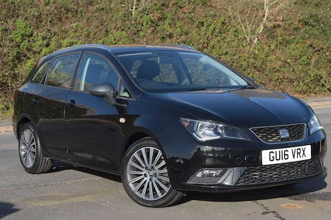 Black SEAT Ibiza TSI Connect 2016