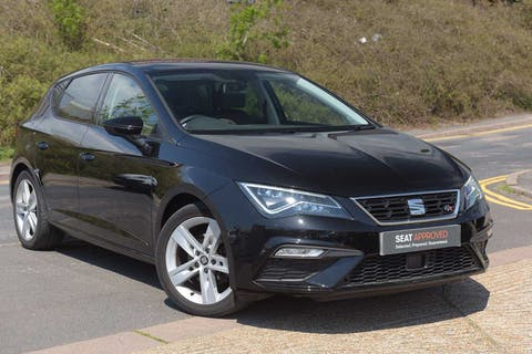 Black SEAT Leon TSI Fr Technology 2018
