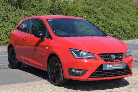 Red SEAT Ibiza TSI Cupra Black 2016