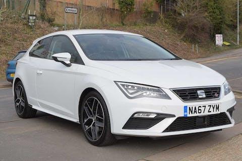 White SEAT Leon Ecotsi Fr Titanium Technology 2018
